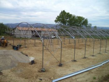 La construction de la serre